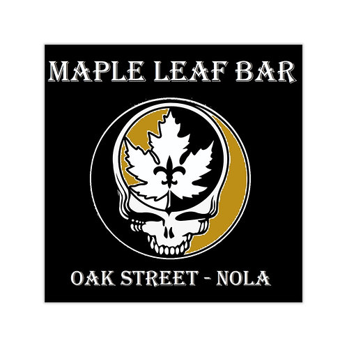 Maple Leaf Bar Black & Gold SYF Square Vinyl Sticker