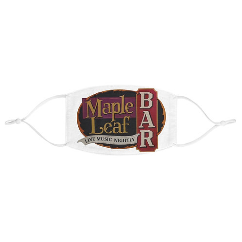 Maple Leaf Bar Live Music Nightly Fabric Face Mask