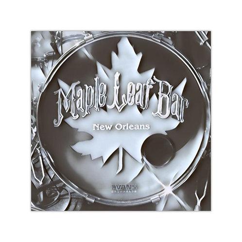 Maple Leaf Bar Kick Drum Square Vinyl Sticker