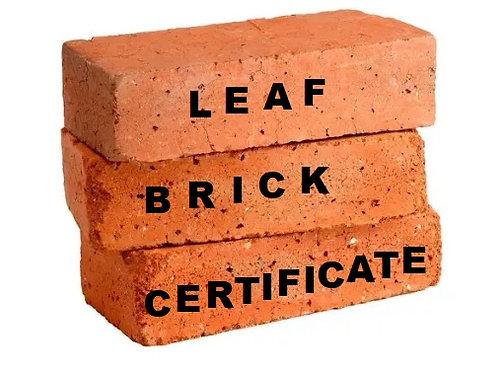Brick Certificate Gift Card