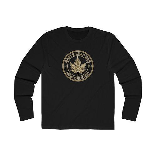 Maple Leaf Bar 1974 Gold Circle Men's Long Sleeve Crew Tee
