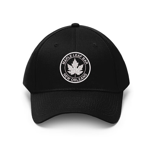 Maple Leaf Bar Embroidered Unisex Twill Hat