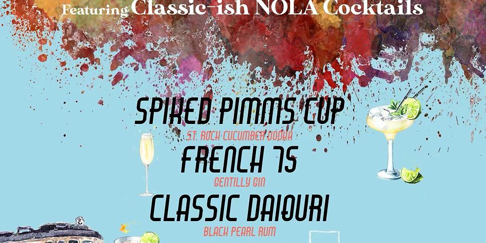 Tastie Wednesday's  feat. Classic-ish NOLA Cocktails 6-9PM $40