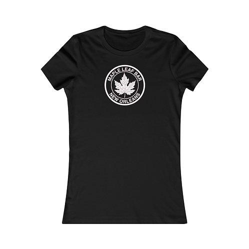 Maple Leaf Bar Circle Logo Women's Favorite Tee