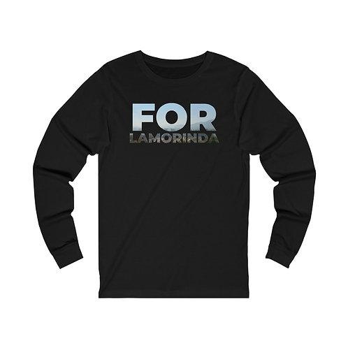 FOR LAMORINDA FOG Unisex Jersey Long Sleeve Tee Black