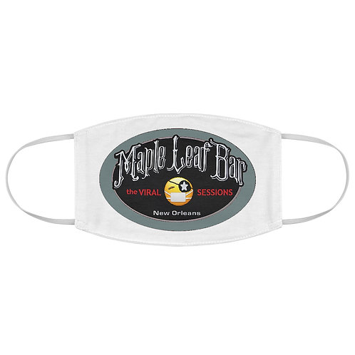Maple Leaf Bar Viral Sessions Logo Fabric Face Mask