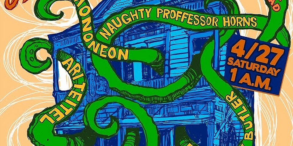 Alvin Ford Jr. w/ Mononeon, Brandon Butler, Ari Teitel, and The Naughty Professor Horns -  Sat Nite 1AM $20 Adv $25 Door