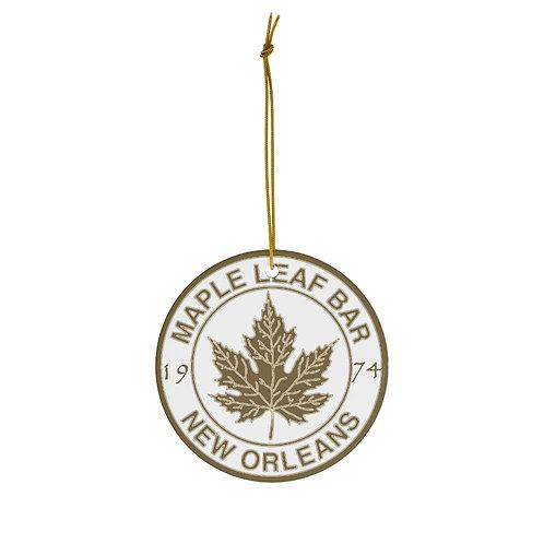 Maple Leaf Bar 1974 Ceramic Ornament