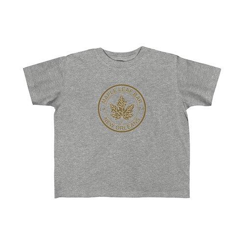 Maple Leaf Bar Gold Circle Logo Kids Fine Jersey Tee