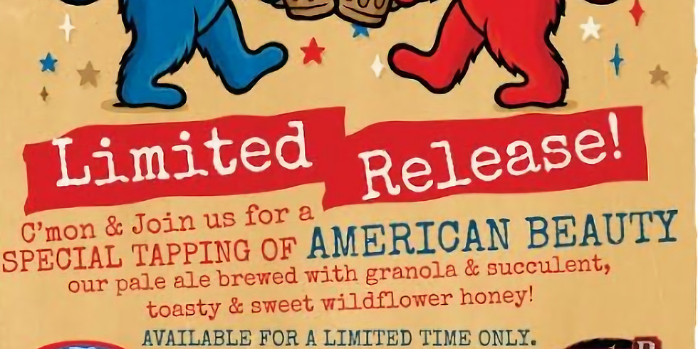 Dogfish Head & The Grateful Dead present American Beauty  Launch Party - ($10 w/out wristband) 5-9pm