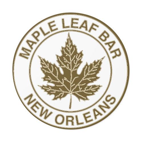 Maple Leaf Bar Circle Logo Round Vinyl Sticker