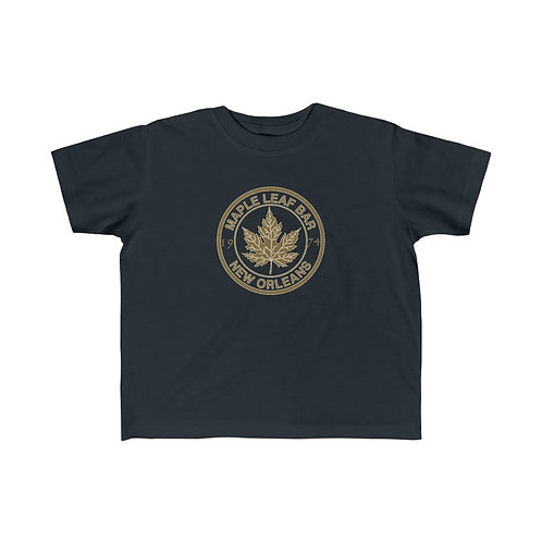 Maple Leaf Bar Gold Circle Logo Kids Fine Jersey Tee