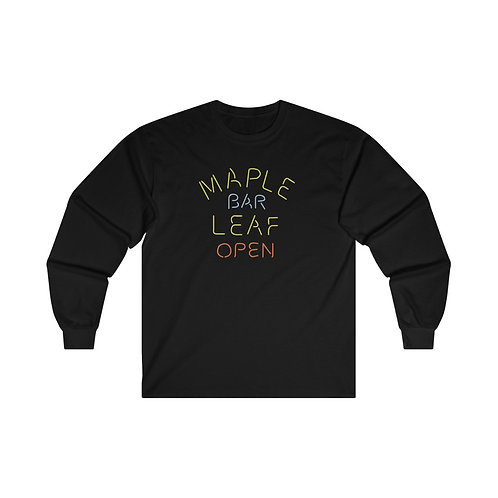 Maple Leaf Bar Open Ultra Cotton Long Sleeve Tee