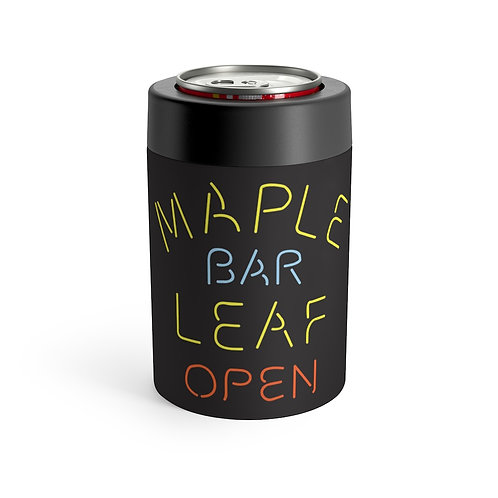 Maple Leaf Bar Stainless 12oz Can & Bottle Holder