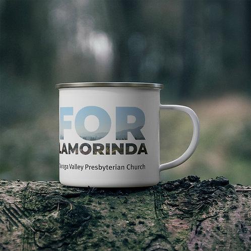 FOR LAMORINDA FOG Enamel Campfire Mug