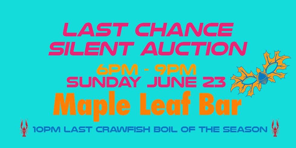 Last Chance Midsummer Mardi Gras Silent Auction 6-9PM