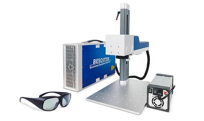 Maquina compacta de grabado marcado laser de alta velocidad precisión y detalle 30W metales joyeria disponible entrega inmediata con garantia nueva cali medellin bogota colombia latinoamerica suramerica GALVO
