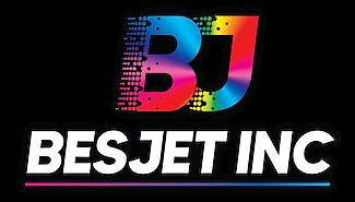 Besjet logo impresoras secado curado UV rigidos cama plana gran formato nuevas disponibles financiacion cali medellin bogota colombia economica produccion piezas graficas