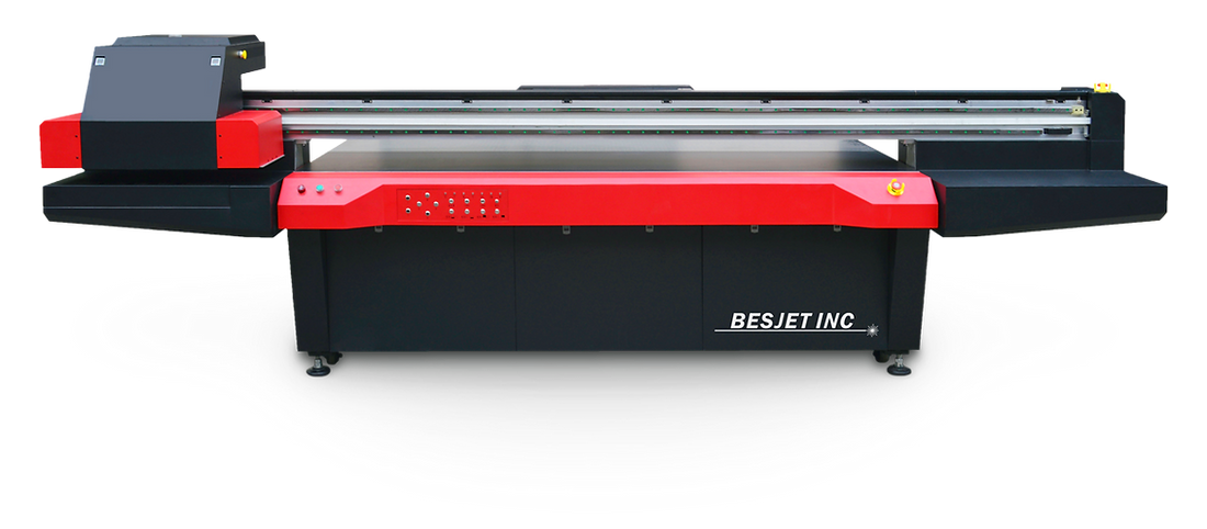 Impresora secado curado UV instantaneo rigidos cama plana gran formato 2.4 x 1.25 m 8' x 4' pies imprime sobre todo nueva disponible financiacion cali medellin bogota colombia economica producción industrial piezas graficas 8 tintas