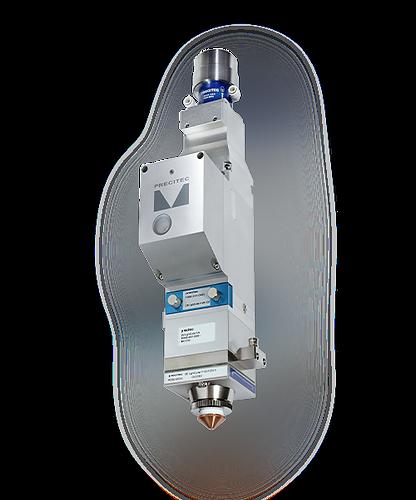 Cabezal Laser de fibra PRECITEC Lightcutter de enfoque automatico super preciso fino importado bajo costo para corte de metal laminas disponible garantizado.