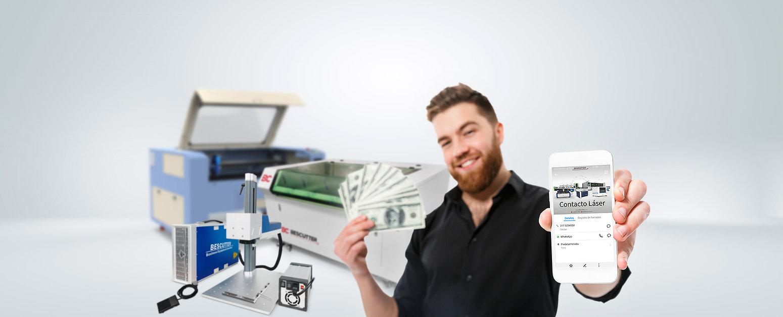 Plan referidos gana dinero efectivo crédito recomendando financia máquinas equipos corte y grabado láser CO2 Fibra Impresoras UV contacto Láser Latino Bescutter