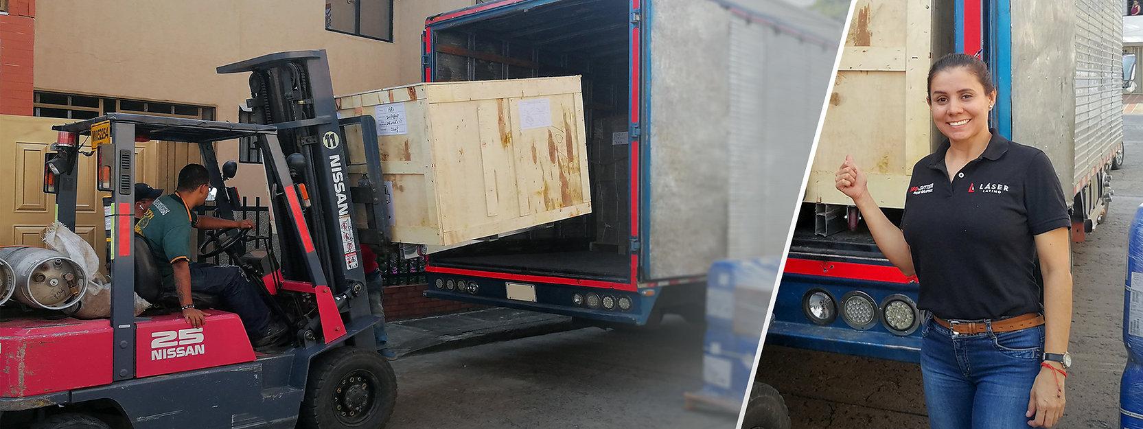 Entrega inmediata disponibilidad en stock de máquinas equipos corte y grabado láser CO2 Fibra Impresoras UV despacho logística en Cali medellin bogota colombia latinoamerica suramerica