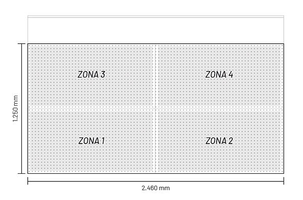 Sistema de absorción por zonas mesa de trabajo Impresora secado curado UV rigidos cama plana gran formato