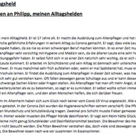 """""""Philipp, mein Alltagsheld"""" von Richard W."""