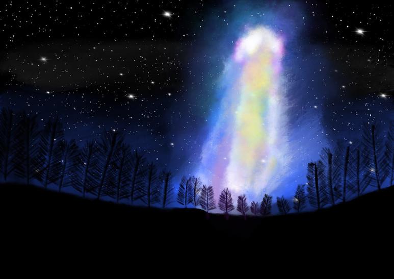 Die Milchstraße über dem Nachthimmel von Jasper M.