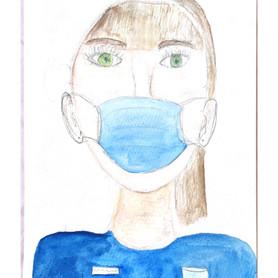 """Maskenträger"" von Lotte E."