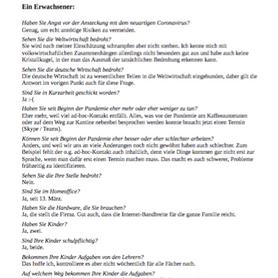 """""""Interview mit zwei Alltagshelden"""" von Gesa H."""