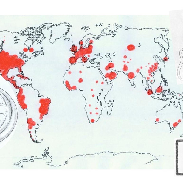 Corona-Weltkarte von Hendrik R.