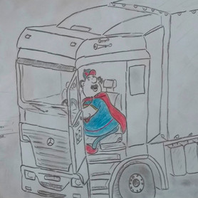 """""""LKW-Fahrer"""" von Theo H."""
