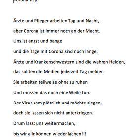 """Corona-Rap"" von Carlotta H."