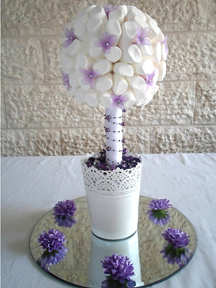 Delicate Dahlia and Lavender Tree