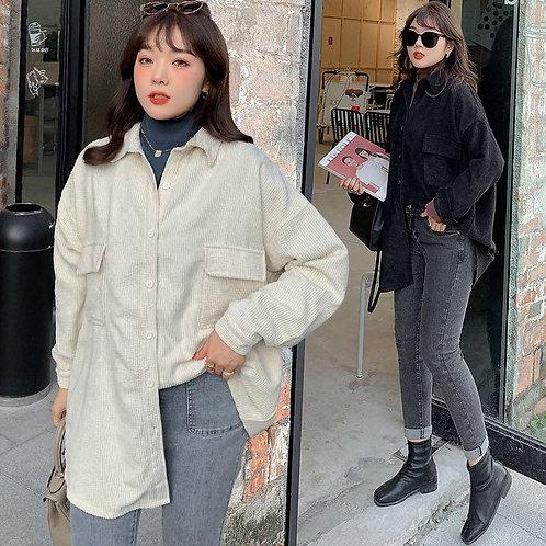 韓國秋季plus size燈籠絨外套