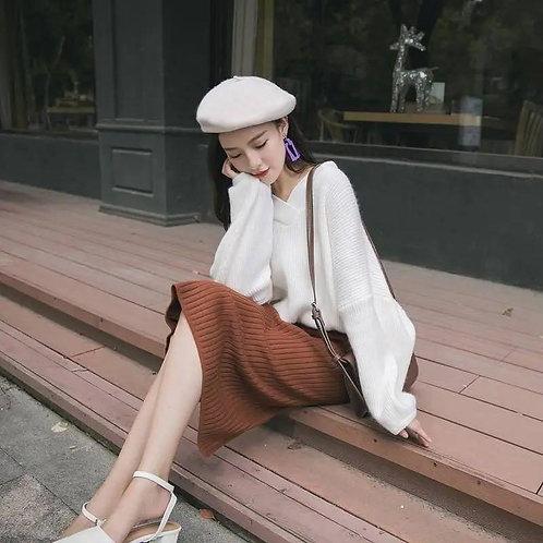 韓國寬鬆粗針織衫-D