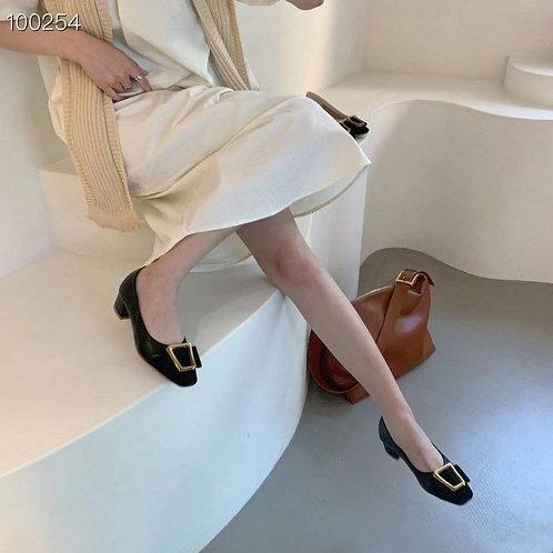 韓國代購-真皮高跟鞋-C