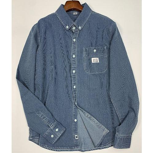日系條紋牛仔襯衫外套-A