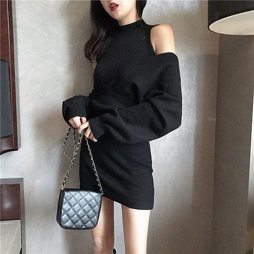 韓國倆件套針織裙-D