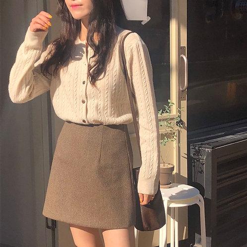 韓國磨毛半身裙-D