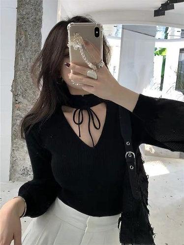 韓國小v針織衫