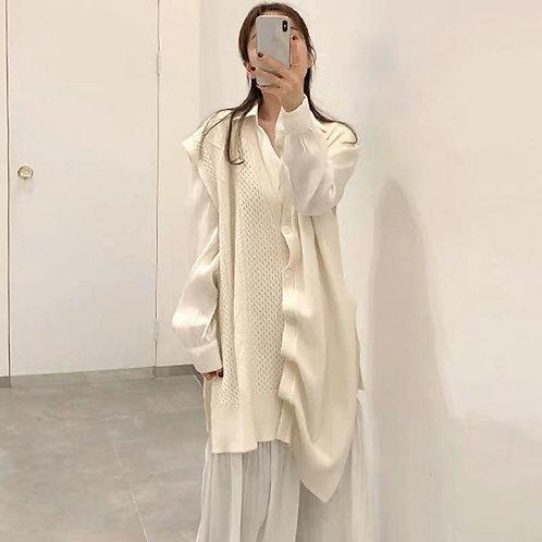韓國不規則針織衫-B