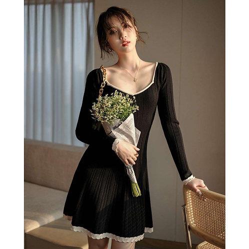 韓國顯瘦針織連身裙