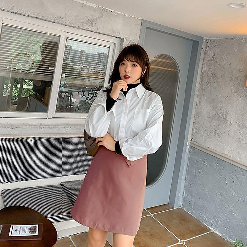 韓國秋季plus size半身裙