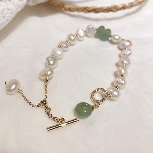 珍珠鍍金手工手鏈-A