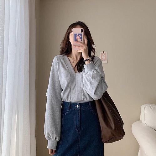 韓國簡約寬鬆衛衣-D