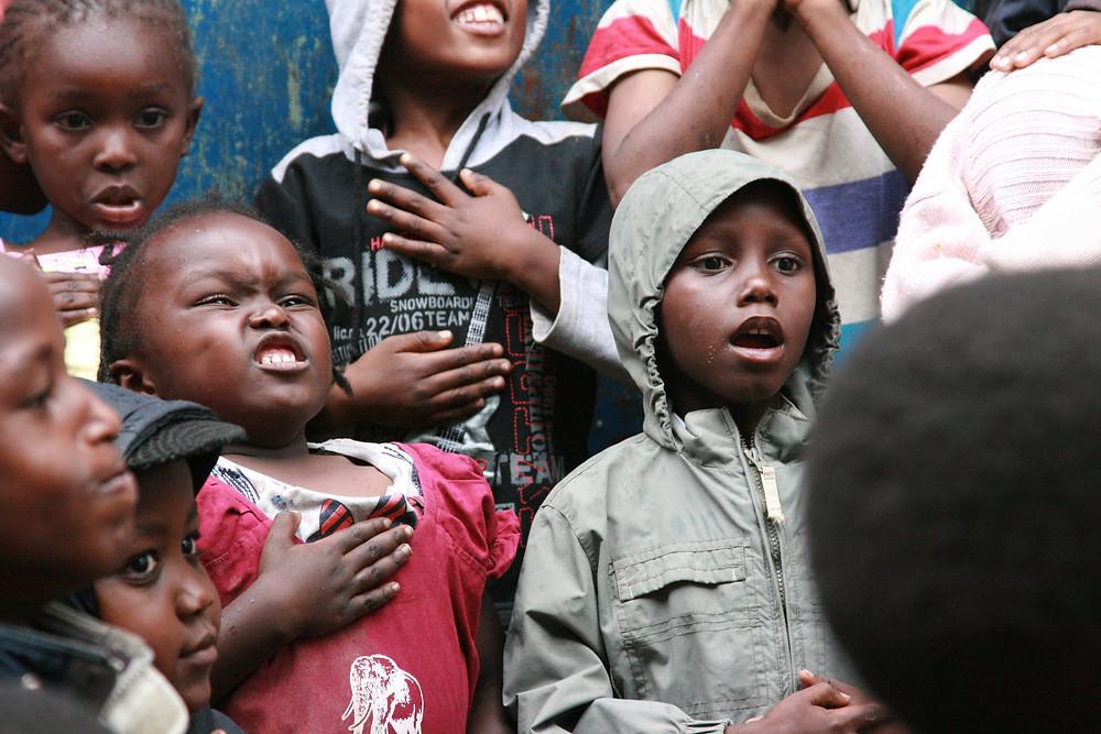 Children in Kenya learn how to breathe