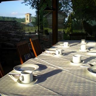 Breakfast table at Locanda