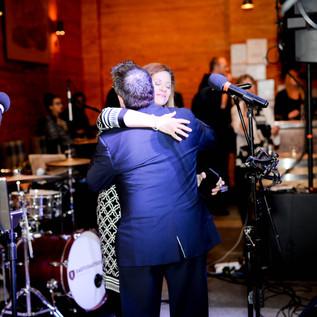 Hugs for Frank Baker